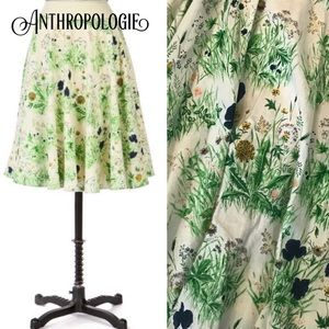 ANTHROPOLOGIE field of flowers a-line skirt